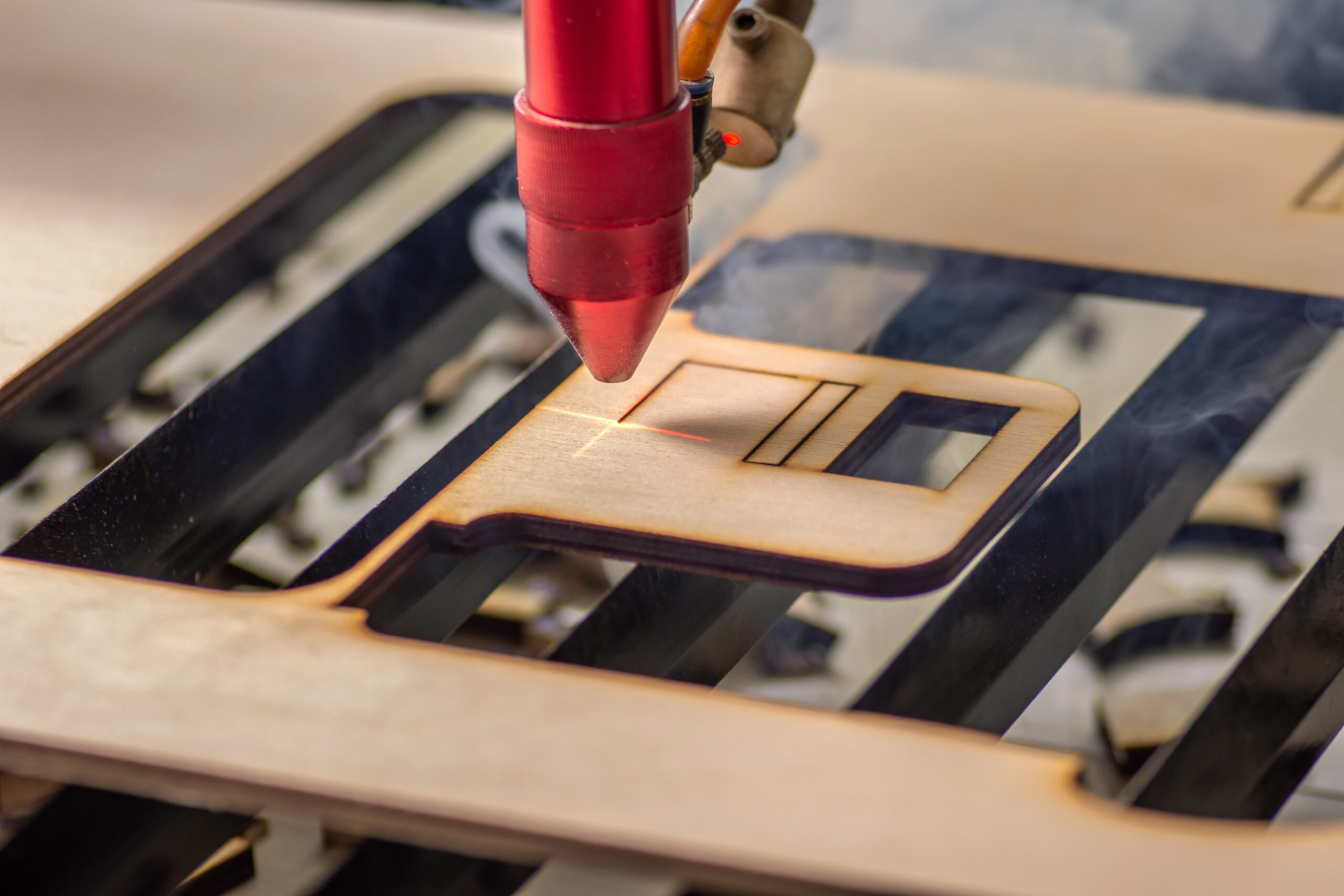 Laser cutting out of MDF