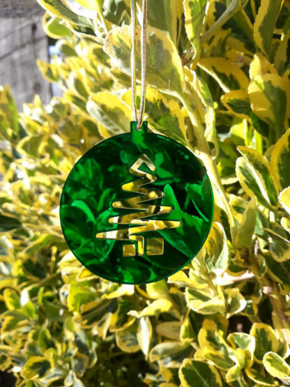 Green Perspex Christmas Decoration