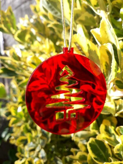 Red Perspex Christmas Decoration
