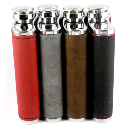Side view of hip flasks