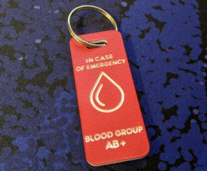 Red ICE tag with blood icon.