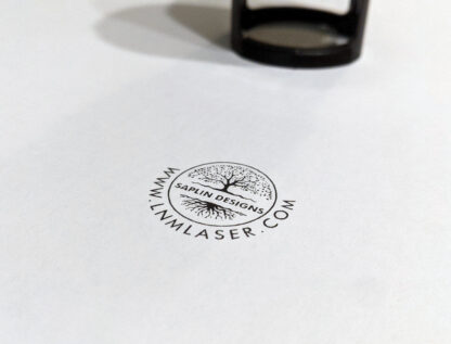 Trodat Printy 4630 and stamp printed on plain white paper