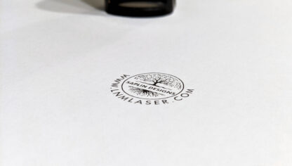 Trodat Printy 4630 and stamp printed on plain white paper close up