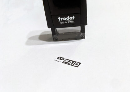 Trodat Printy 4910 Pictured With Stamp